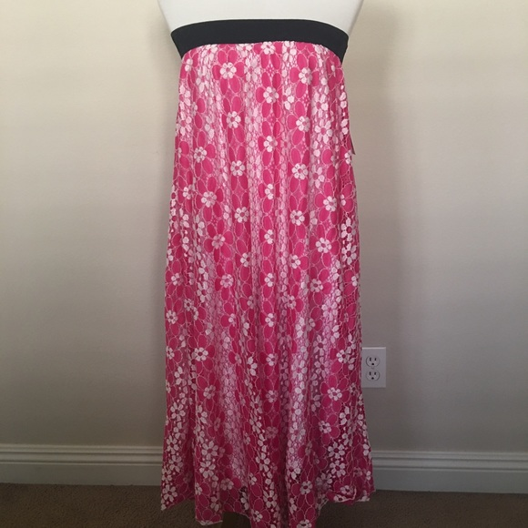 9366bc06c LuLaRoe Skirts   Bnwt Pink Floral Lace Lucy Maxi Skirt   Poshmark